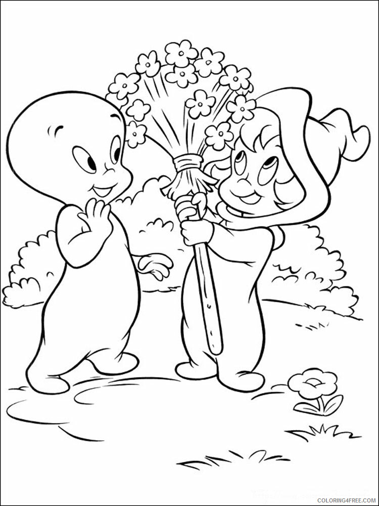 Casper Coloring Pages TV Film Casper 8 Printable 2020 02036 Coloring4free