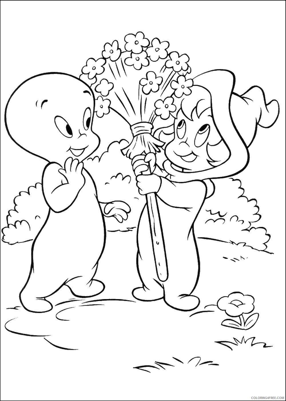 Casper Coloring Pages TV Film casper_cl_09 Printable 2020 02002 Coloring4free