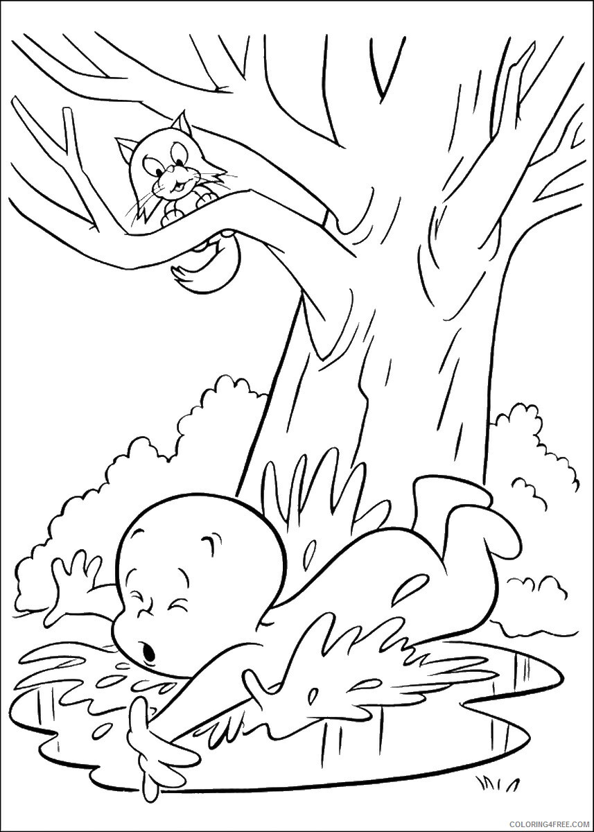 Casper Coloring Pages TV Film casper_cl_17 Printable 2020 02010 Coloring4free