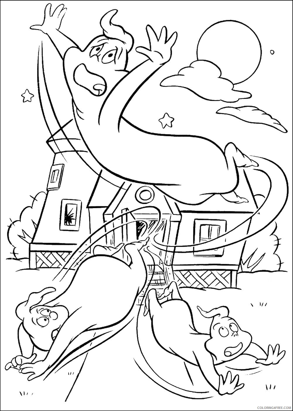 Casper Coloring Pages TV Film casper_cl_24 Printable 2020 02017 Coloring4free