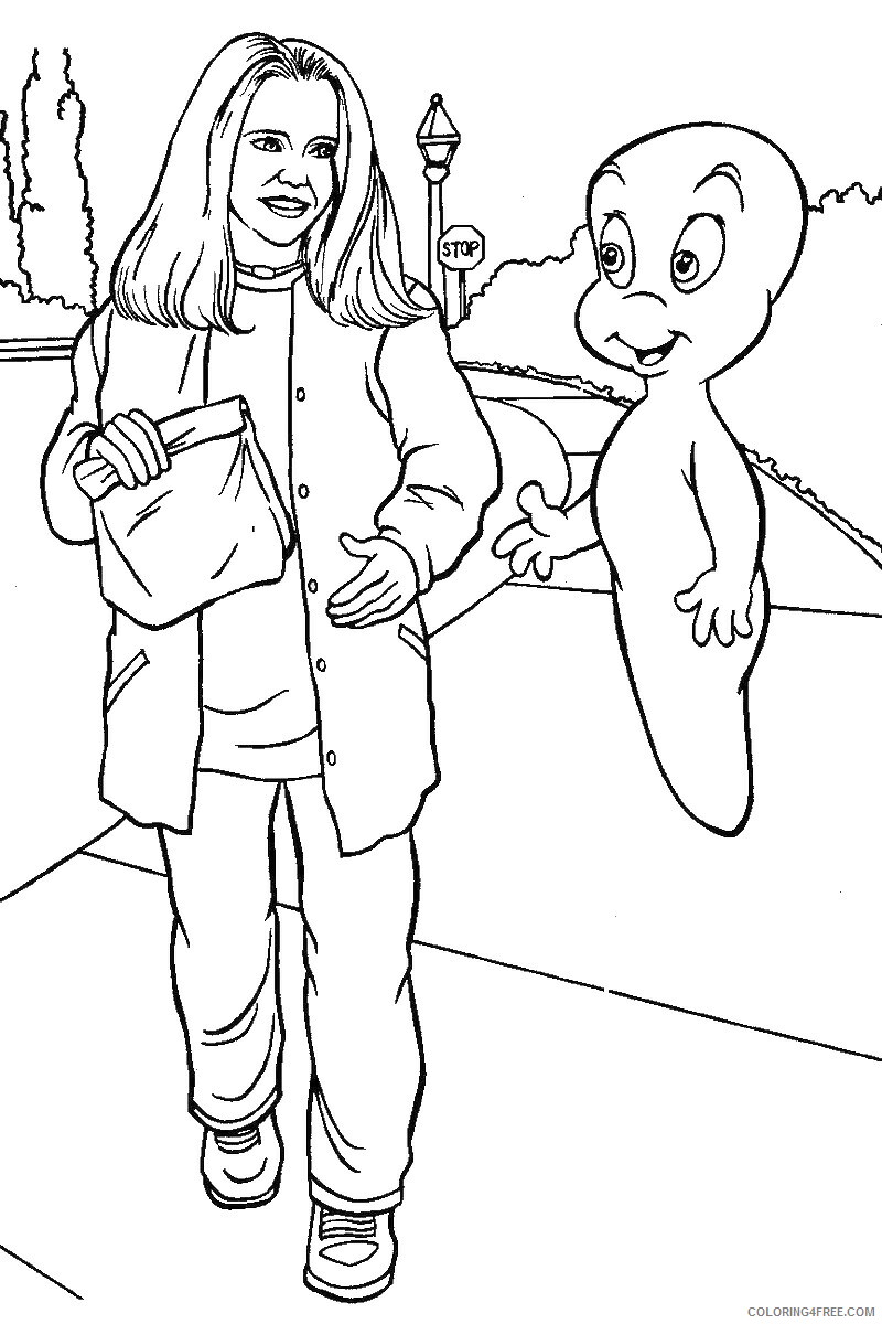 Casper Coloring Pages TV Film casper_cl_29 Printable 2020 02021 Coloring4free