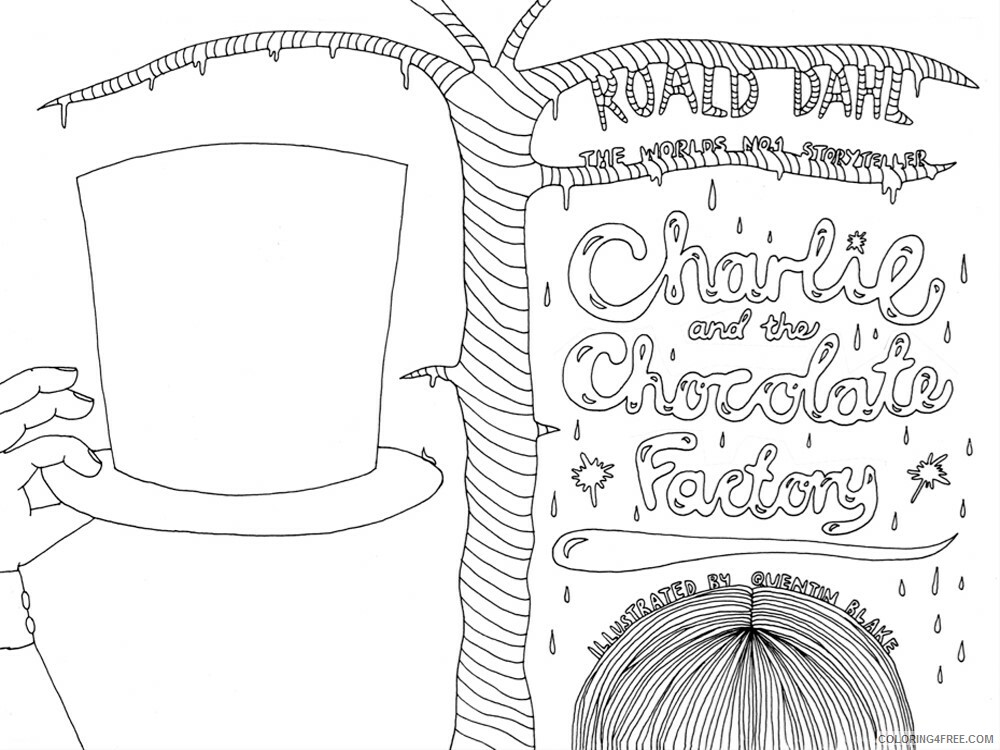 Charlie and the Chocolate Factory Coloring Pages TV Film Printable 2020 02046 Coloring4free