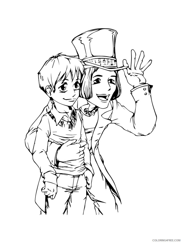 Charlie and the Chocolate Factory Coloring Pages TV Film Printable 2020 02047 Coloring4free