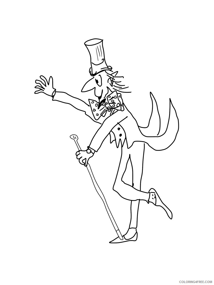 Charlie and the Chocolate Factory Coloring Pages TV Film Printable 2020 02048 Coloring4free