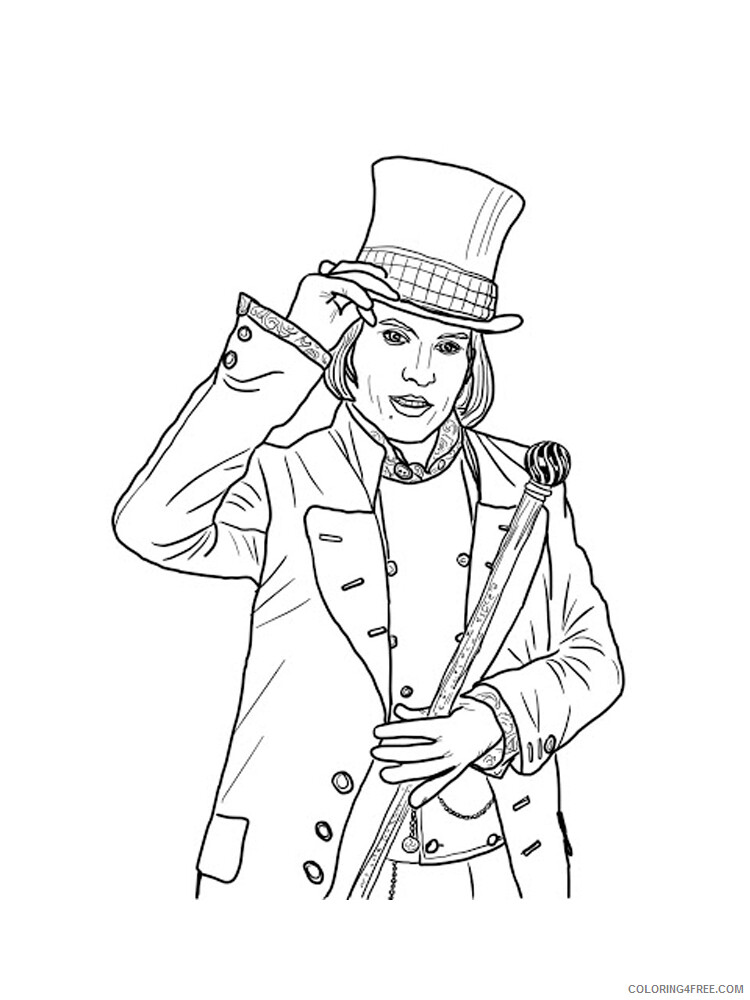 Charlie and the Chocolate Factory Coloring Pages TV Film Printable 2020 02049 Coloring4free