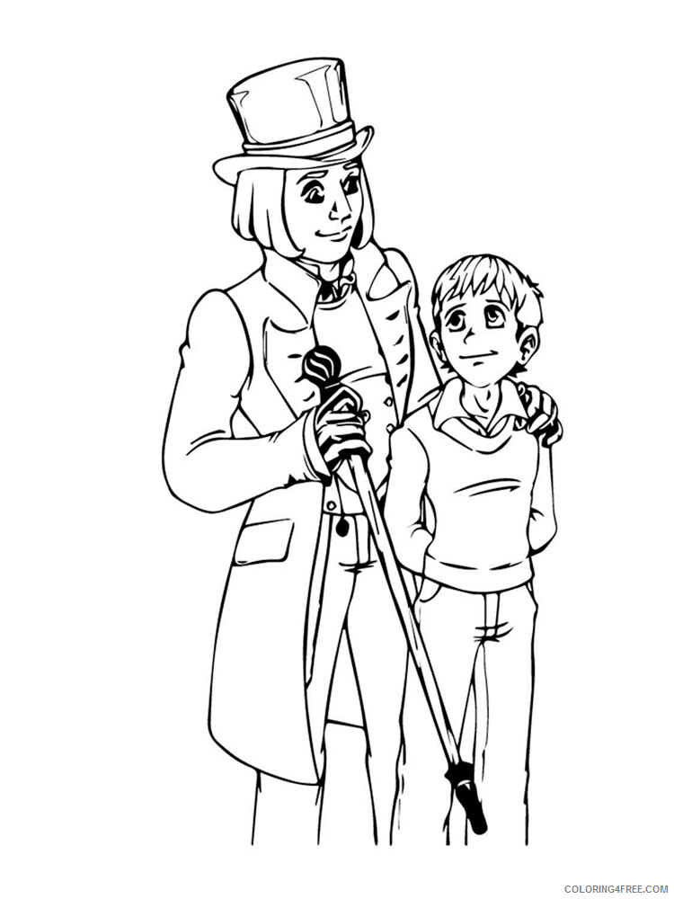 Charlie and the Chocolate Factory Coloring Pages TV Film Printable 2020 02050 Coloring4free