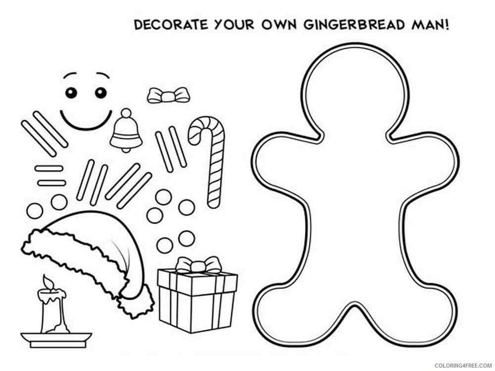 Christmas Gingerbread Coloring Pages Christmas Gingerbread 10 Printable  2020 202 Coloring4free - Coloring4Free.com