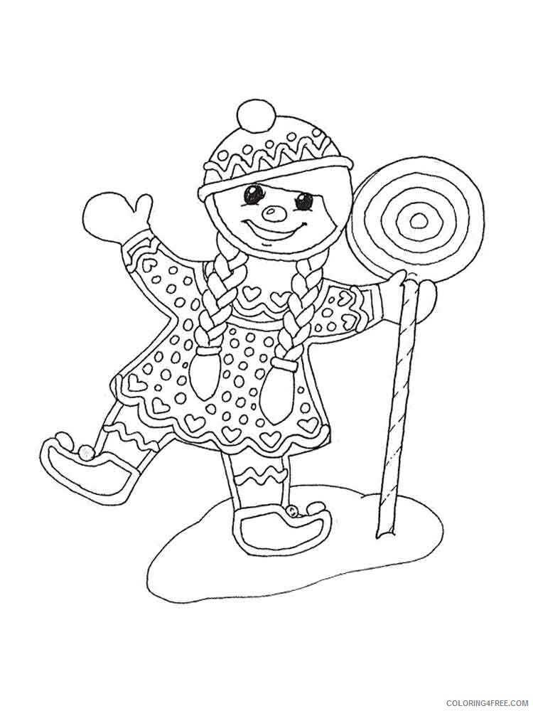 Christmas Gingerbread Coloring Pages Christmas Gingerbread 3 Printable 2020  206 Coloring4free - Coloring4Free.com
