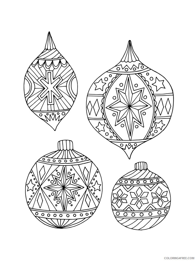 Christmas Ornaments Coloring Pages Christmas Ornament 18 Printable 2020 231 Coloring4free Coloring4free Com
