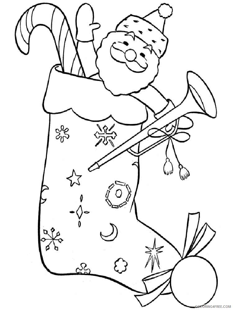 Christmas Stocking Coloring Pages Stocking 8 Printable 2020 312 Coloring4free Coloring4free Com