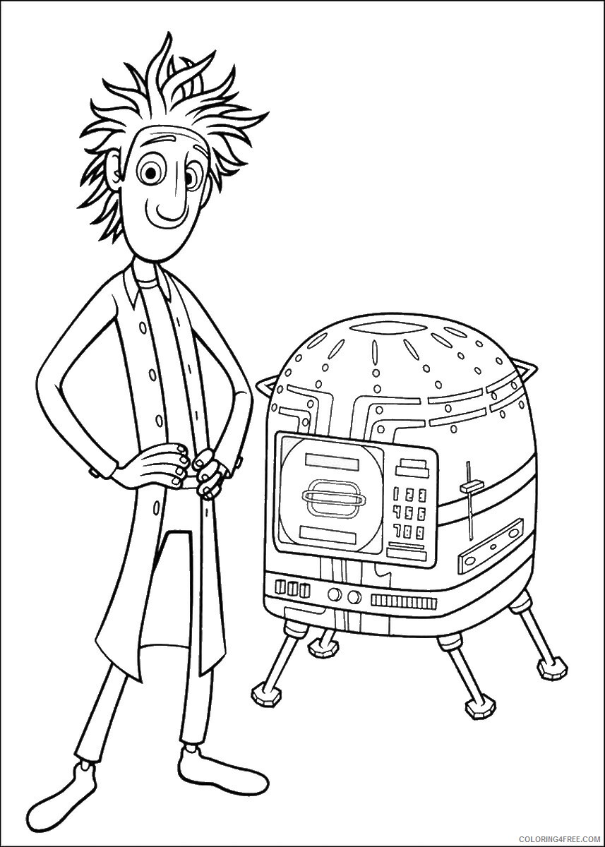 Cloudy With A Chance Of Meatballs Coloring Pages Tv Film Printable 2020 02221 Coloring4free Coloring4free Com