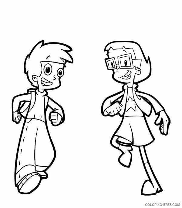 Cyberchase Coloring Pages Tv Film Matt And Inez From Cyberchase 2020 02325 Coloring4free Coloring4free Com