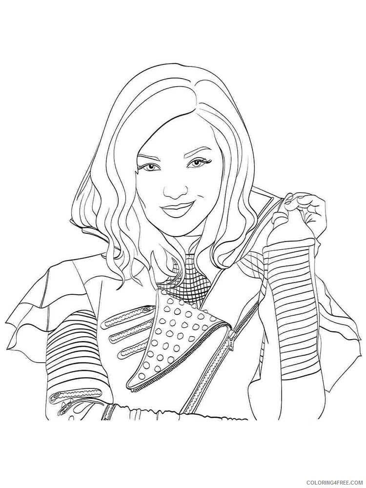 Descendants Wicked World Coloring Pages TV Film Descendants Printable 2020 02458 Coloring4free