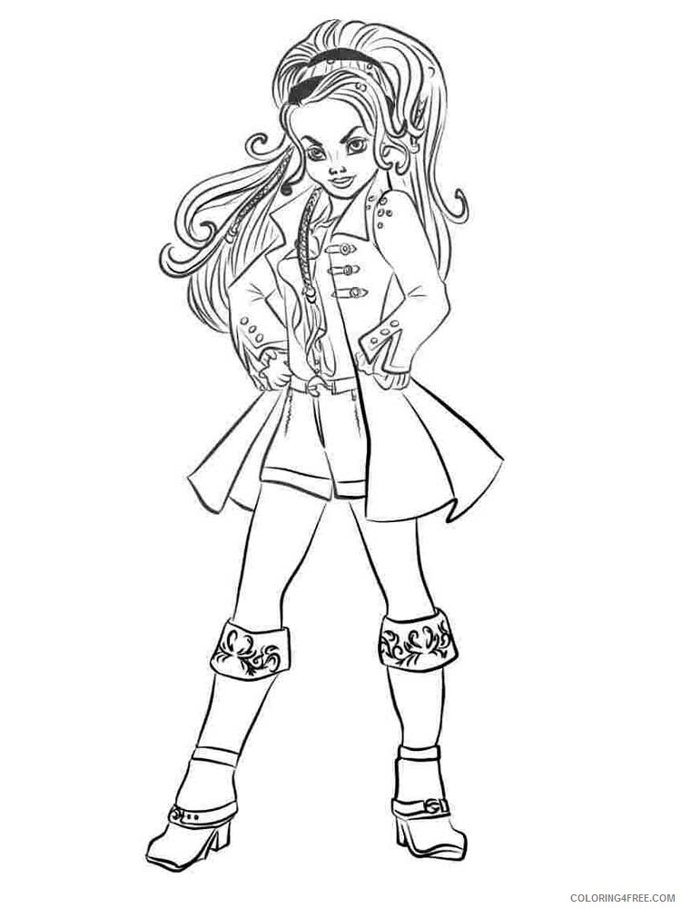 Descendants Wicked World Coloring Pages TV Film Descendants Printable 2020 02466 Coloring4free