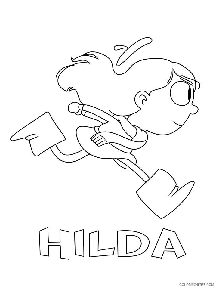 Hilda Coloring Pages TV Film hilda_001 Printable 2020 03610 Coloring4free