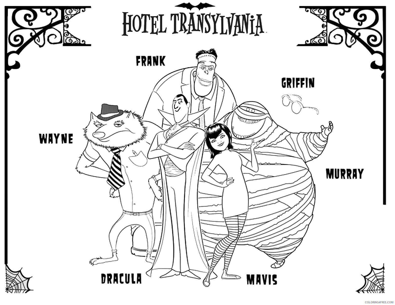 Hotel Transylvania Coloring Pages Tv Film Hotel Trans Cl 009 Printable 2020 03803 Coloring4free Coloring4free Com