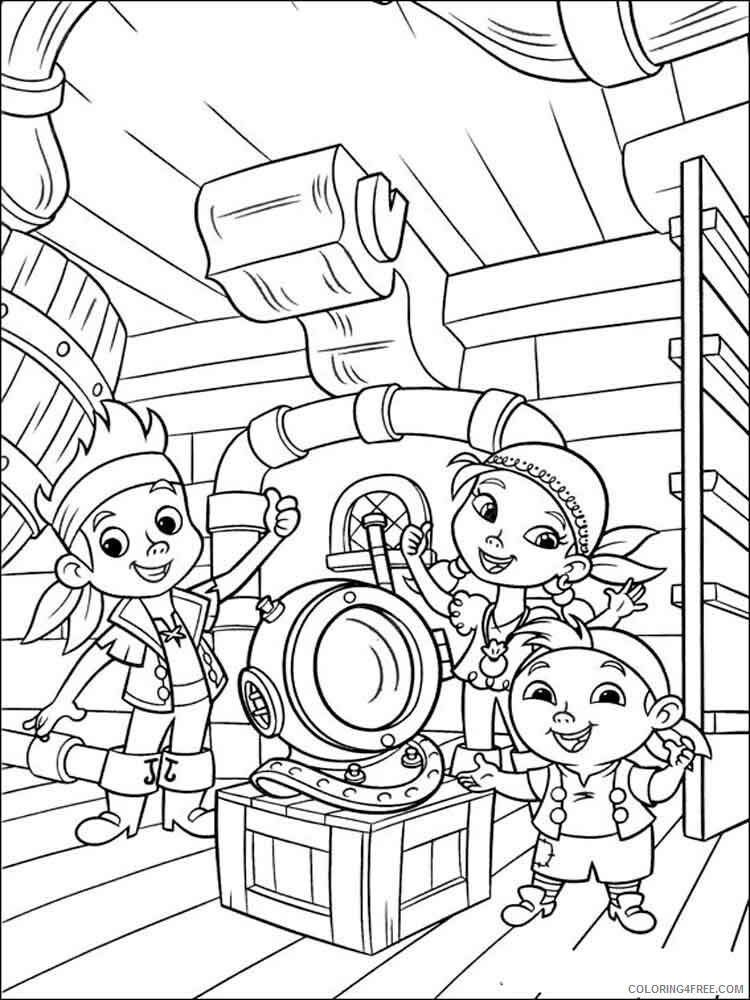 Jake And The Never Land Pirates Coloring Pages Tv Film Printable 2020 04032 Coloring4free Coloring4free Com