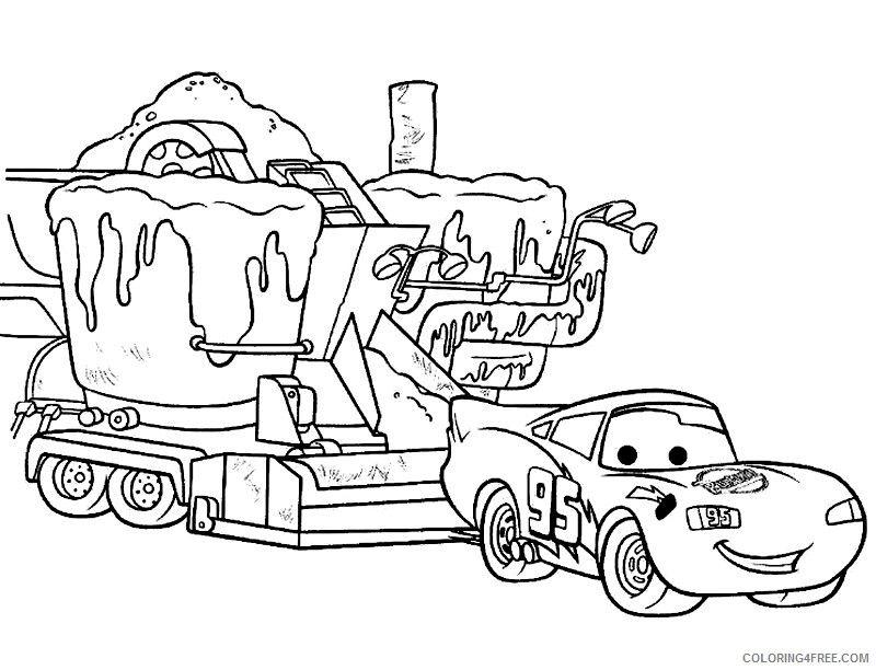 Lightning McQueen Coloring Pages TV Film Free Printable 2020 04420  Coloring4free - Coloring4Free.com