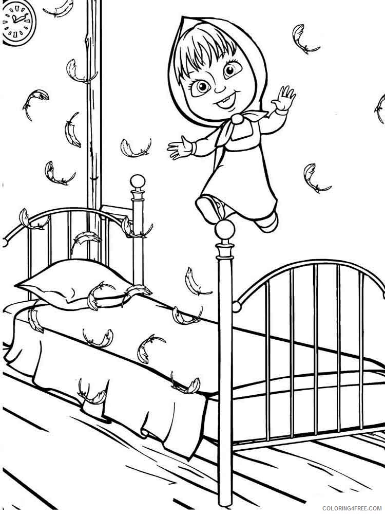 Masha And The Bear Coloring Pages Tv Film Mascha And Bear 24 Printable 2020 04880 Coloring4free Coloring4free Com