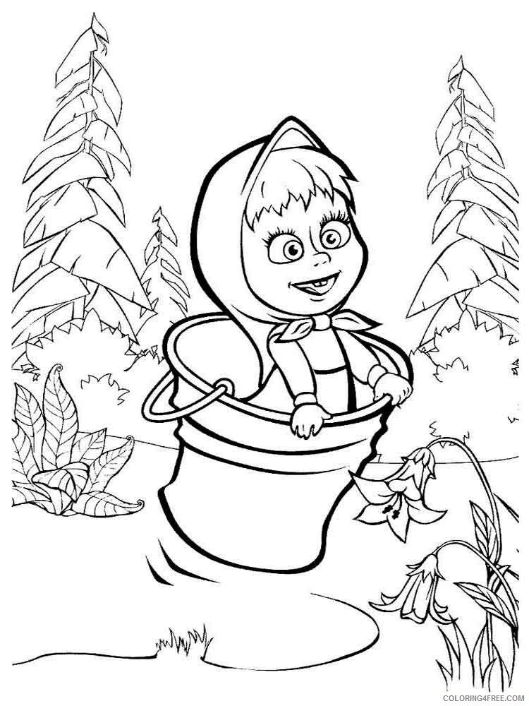 Masha And The Bear Coloring Pages Tv Film Mascha And Bear 28 Printable 2020 04884 Coloring4free Coloring4free Com