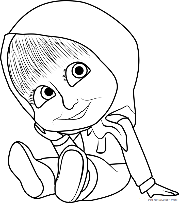Masha And The Bear Coloring Pages TV Film Printable 2020 04869  Coloring4free - Coloring4Free.com
