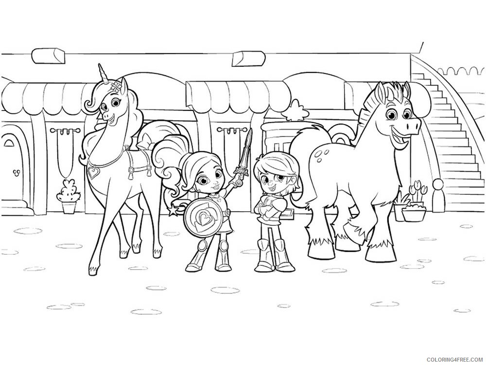 Nella The Princess Knight Coloring Pages Tv Film Printable 2020 05426 Coloring4free Coloring4free Com