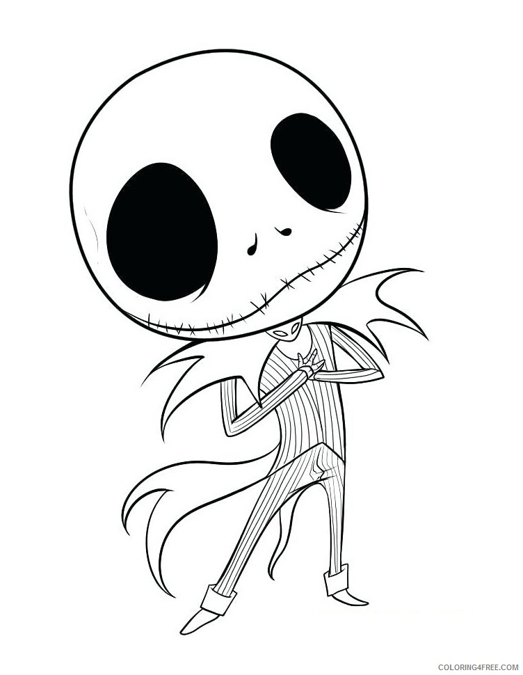 Nightmare Before Christmas Coloring Pages TV Film Jack Skeleton 2020 02  Coloring4free - Coloring4Free.com
