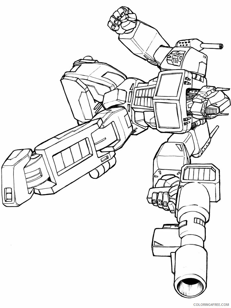 Optimus Prime Coloring Pages Tv Film Transformers For Boys 2 Printable 2020 05814 Coloring4free Coloring4free Com