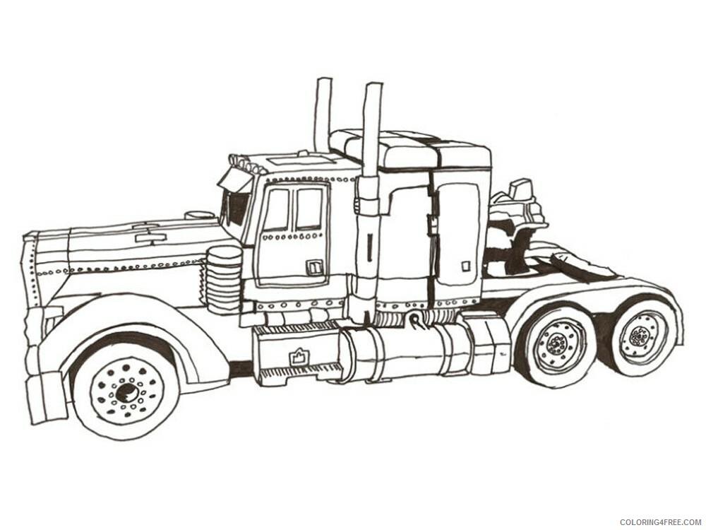 Optimus Prime Coloring Pages Tv Film Transformers For Boys Printable 2020 05806 Coloring4free Coloring4free Com