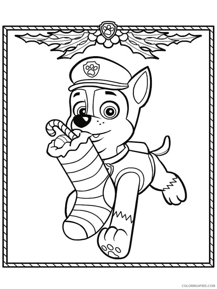Paw Patrol Coloring Pages Tv Film Chase Paw Patrol 5 Printable 2020 05895 Coloring4free Coloring4free Com