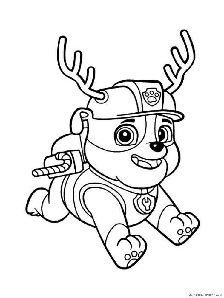 Paw Patrol Coloring Pages Tv Film Rubble Paw Patrol 1 Printable 2020 05974 Coloring4free Coloring4free Com