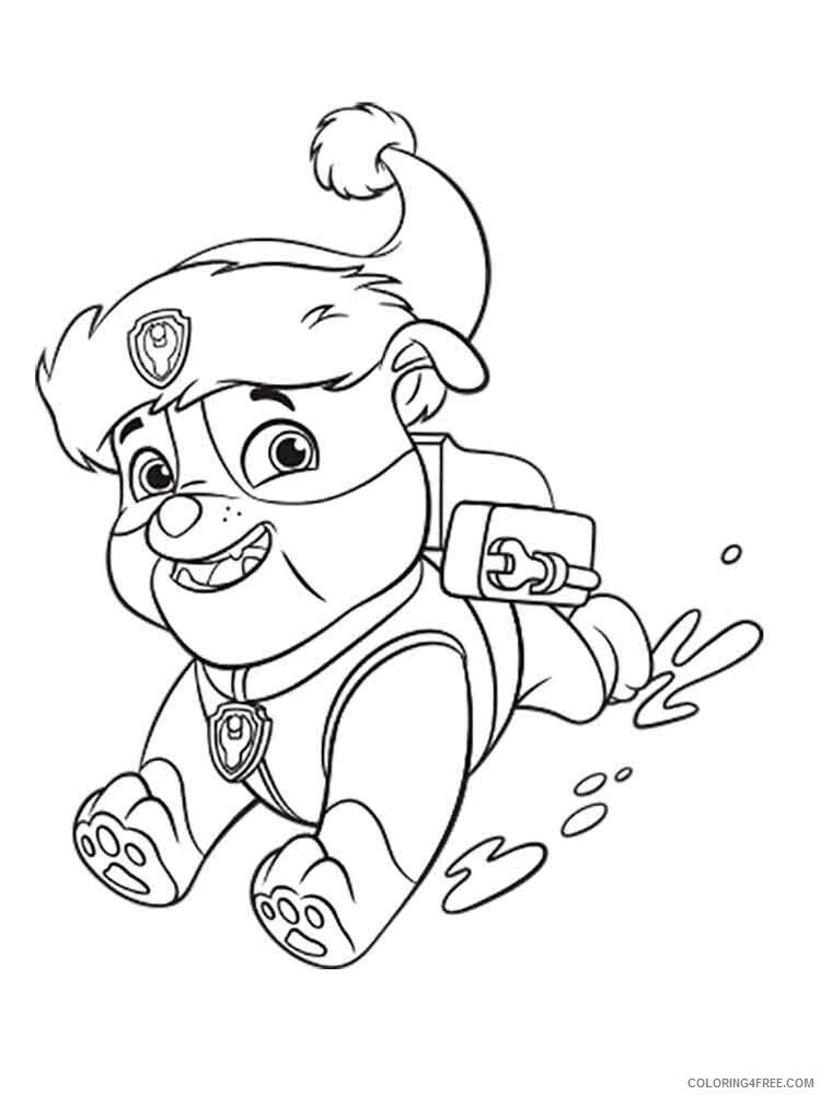 Paw Patrol Coloring Pages Tv Film Rubble Paw Patrol 5 Printable 2020 05978 Coloring4free Coloring4free Com