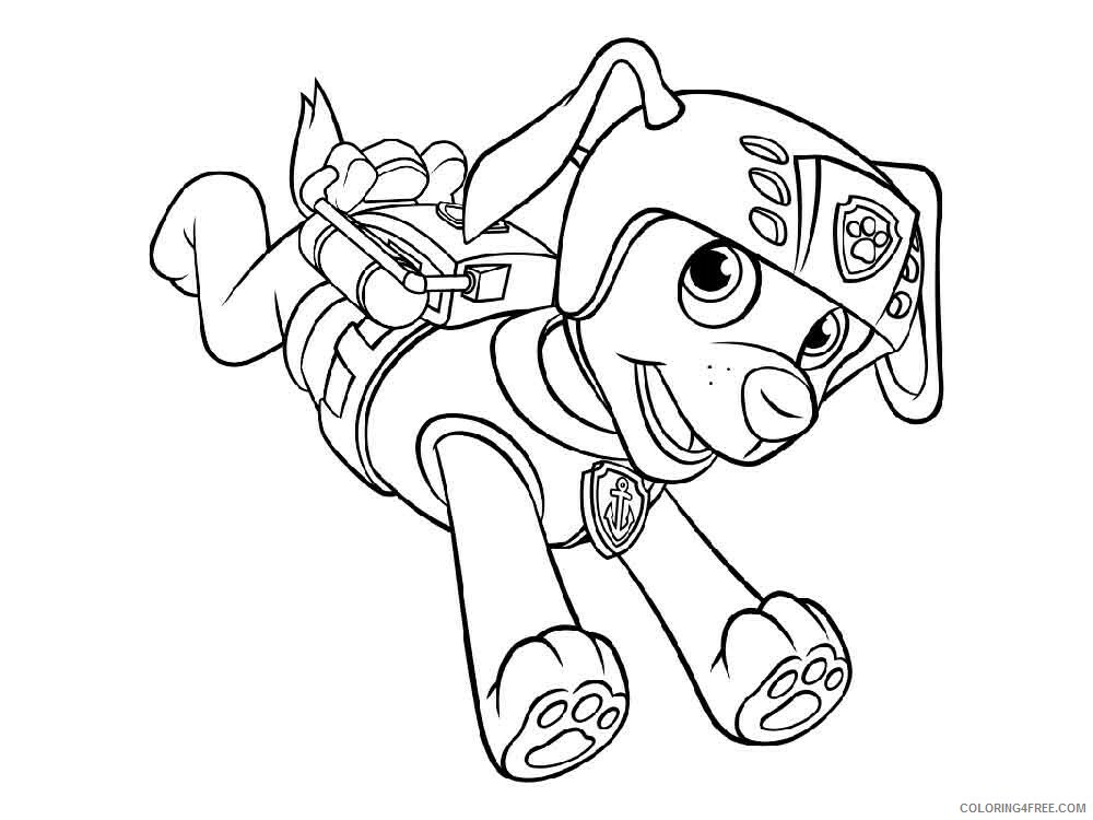 Paw Patrol Coloring Pages TV Film Zuma Paw Patrol 9 Printable 2020 06020  Coloring4free - Coloring4Free.com