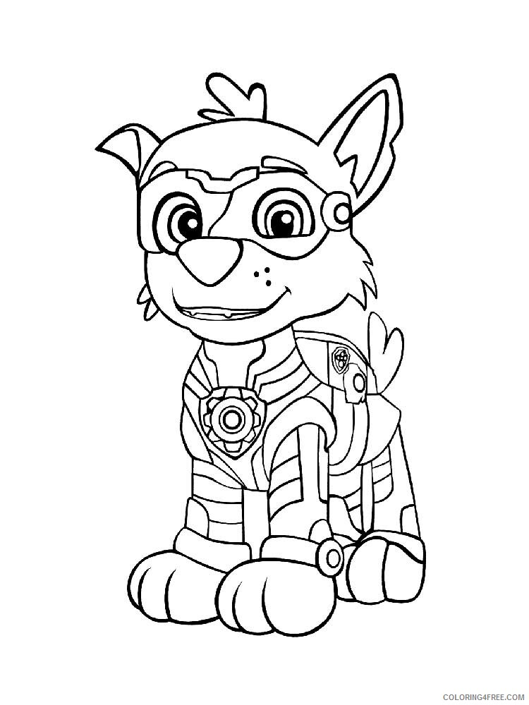 Paw Patrol Mighty Pups Coloring Pages Tv Film Mighty Pups 21 Printable 2020 06034 Coloring4free Coloring4free Com