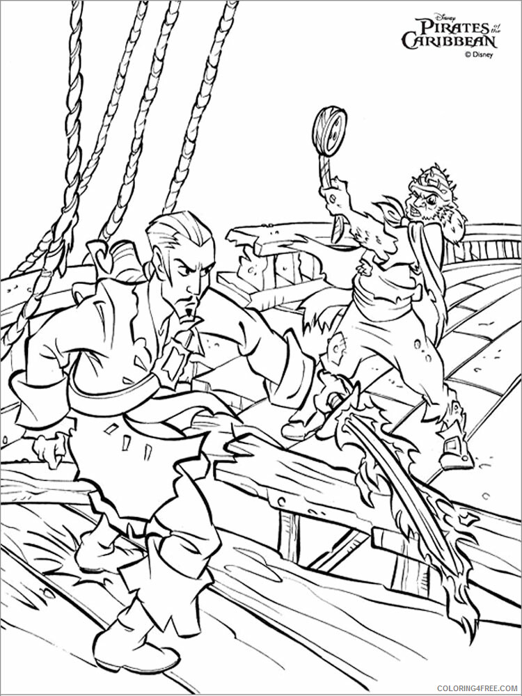 Pirates Of The Caribbean Coloring Pages TV Film Printable 2020 06425  Coloring4free - Coloring4Free.com