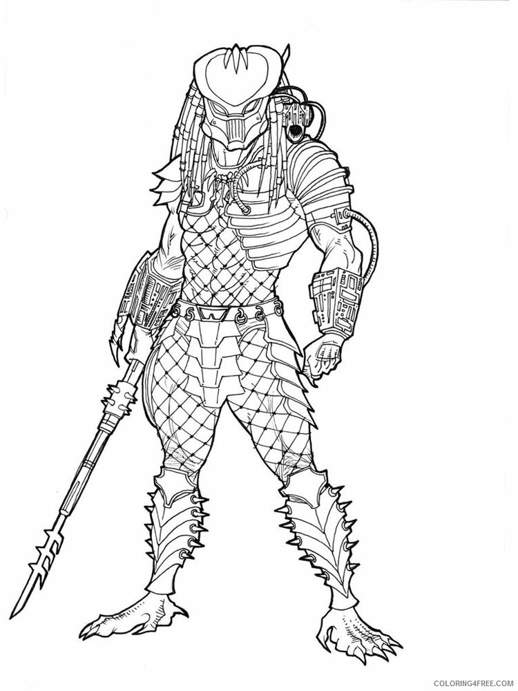 Predator Coloring Pages Tv Film Predator For Boys 5 Printable 2020 06858 Coloring4free Coloring4free Com