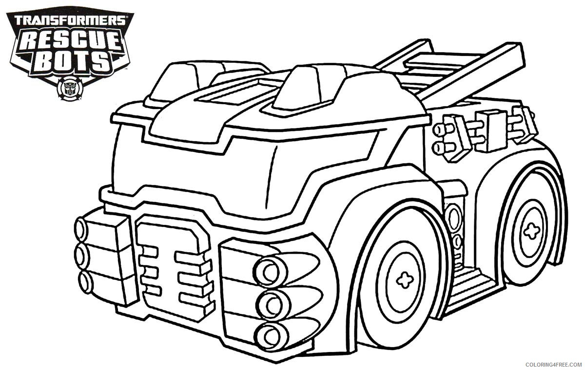 Rescue Bots Coloring Pages TV Film Heatwave Truck Printable 2020 07094 Coloring4free