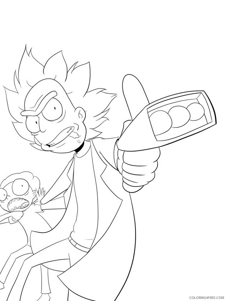 Rick and Morty Coloring Pages TV Film Rick and Morty 10 Printable 2020 07112 Coloring4free