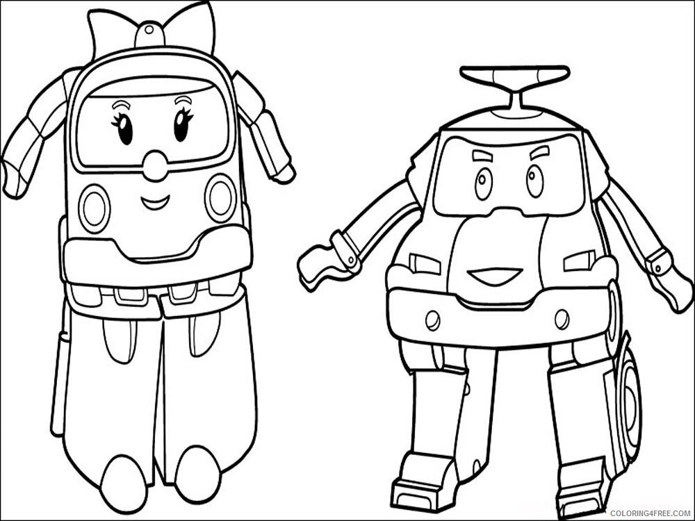 Robocar Poli Coloring Pages Tv Film Robocar Poli 14 Printable 2020 07154 Coloring4free Coloring4free Com