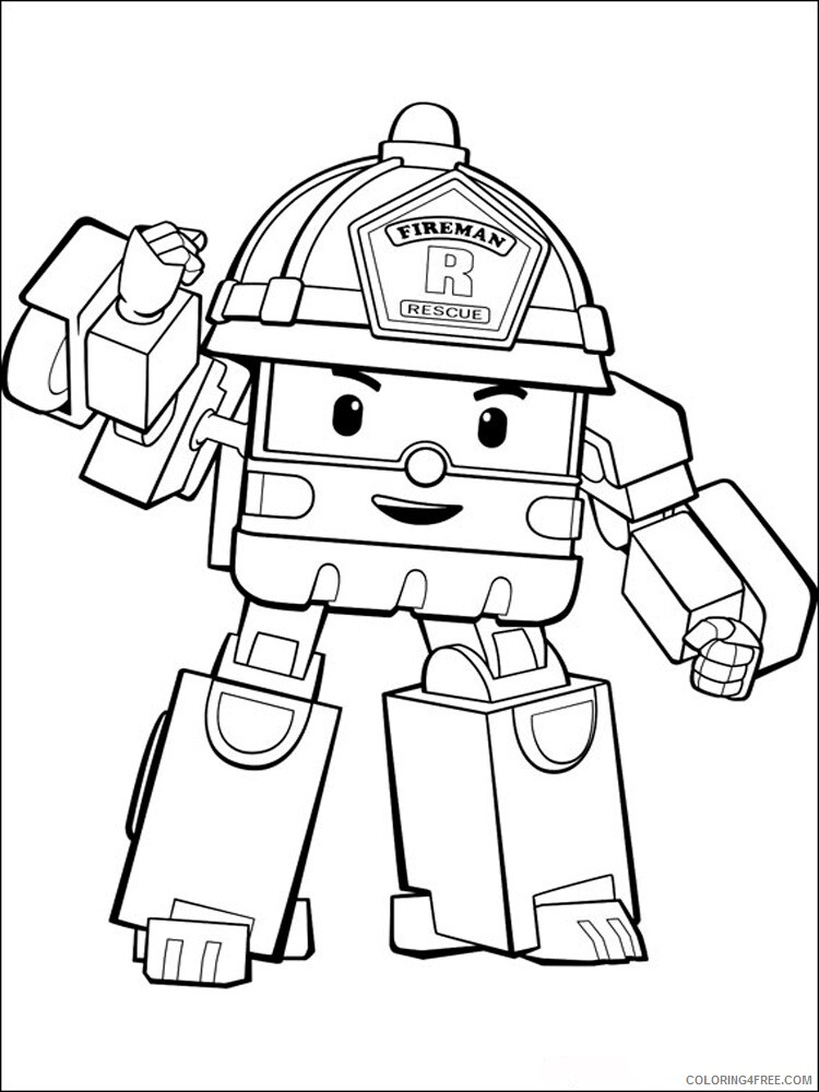 Robocar Poli Coloring Pages TV Film Robocar Poli 15 Printable 2020 07155 Coloring4free