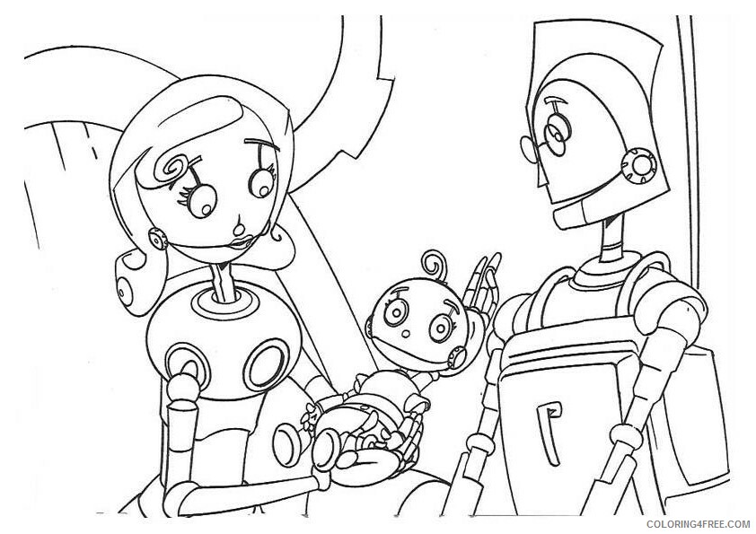 Robots Movie Coloring Pages TV Film robots 14 Printable 2020 07208 Coloring4free