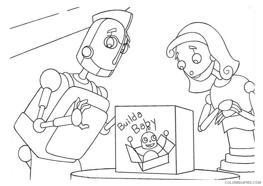 Robots Movie Coloring Pages TV Film robots 15 Printable 2020 07209 Coloring4free