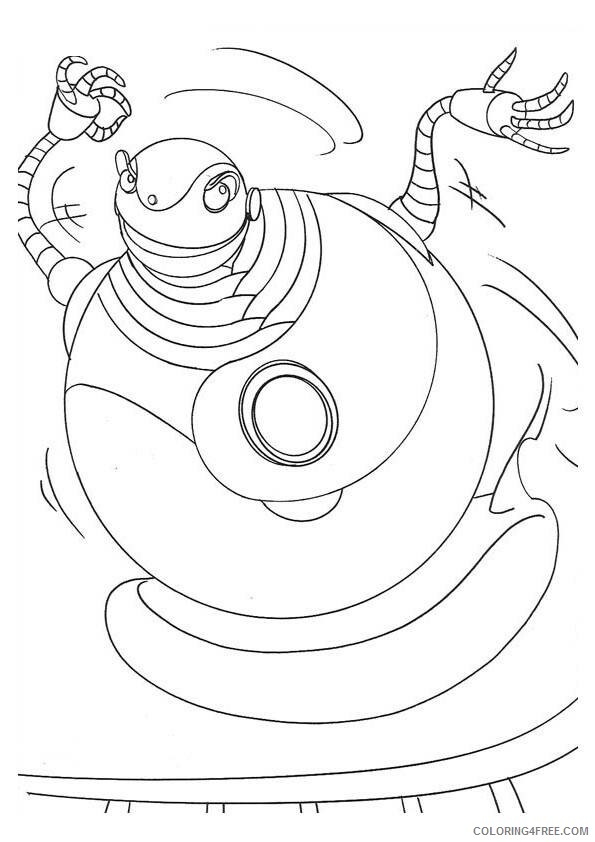 Robots Movie Coloring Pages TV Film robots 7 Printable 2020 07217 Coloring4free