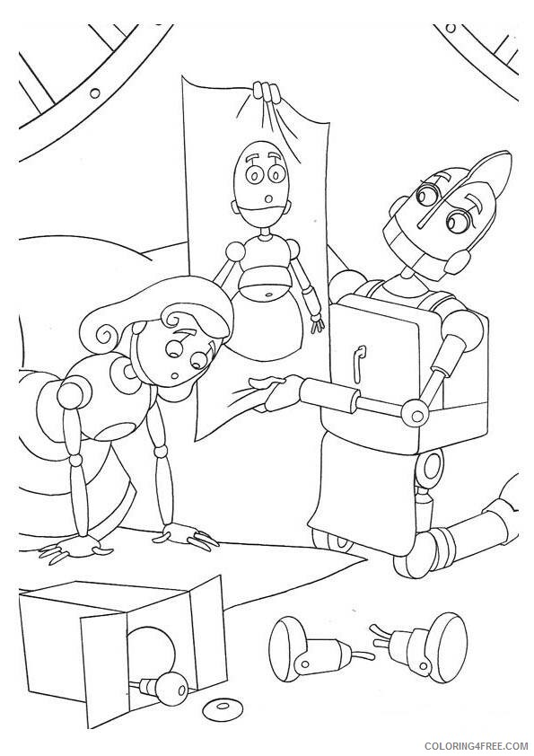 Robots Movie Coloring Pages TV Film robots F9Hkc Printable 2020 07188 Coloring4free