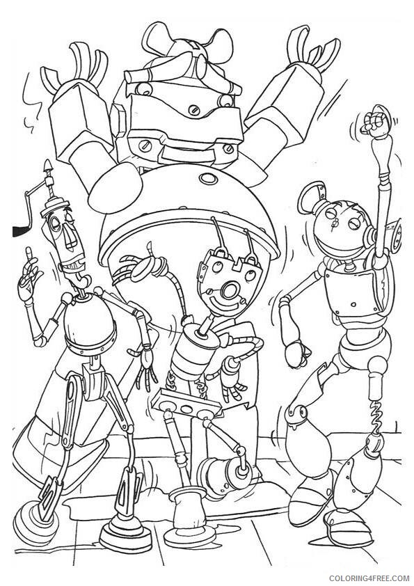 Robots Movie Coloring Pages TV Film robots XcIf3 Printable 2020 07199 Coloring4free
