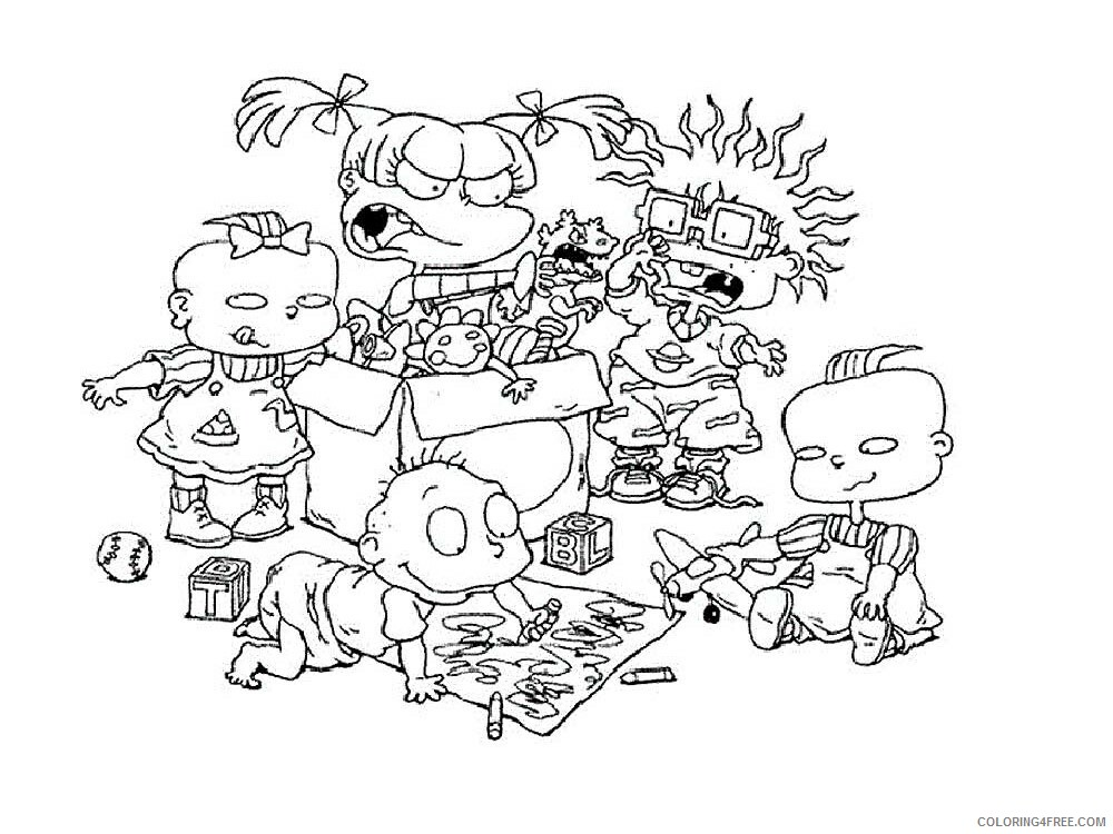 Rugrats Coloring Pages Tv Film Rugrats 9 Printable 2020 07243 Coloring4free Coloring4free Com