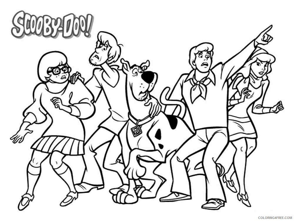 Scooby Doo Coloring Pages TV Film Scooby Doo 6 Printable 2020 07307  Coloring4free - Coloring4Free.com