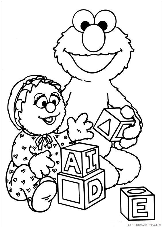 Sesame Street Coloring Pages TV Film Baby Sesame Street Printable 2020 07347 Coloring4free