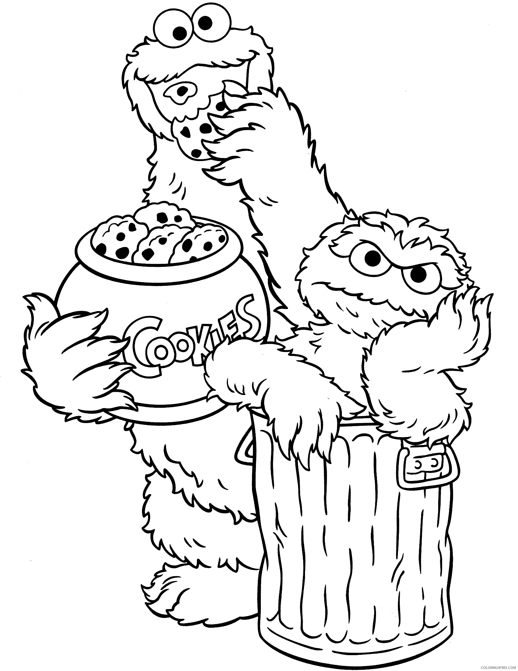 Sesame Street Coloring Pages TV Film Characters Printable 2020 07348 Coloring4free