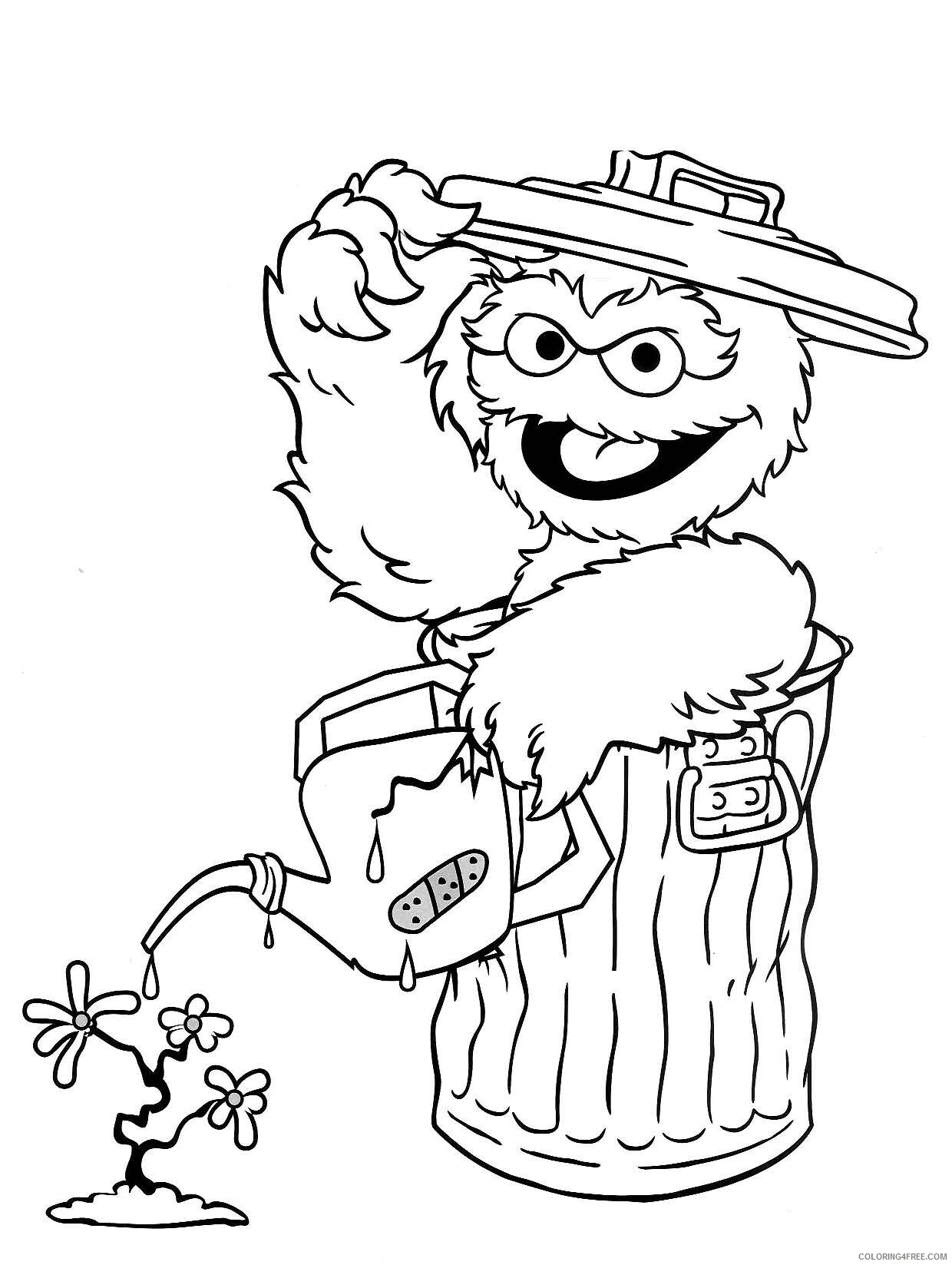 Sesame Street Coloring Pages TV Film Elmo Printable 2020 07445 Coloring4free